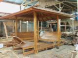 Holzhäuser - Vorgeschnittene Fachwerkbalken - Dachstuhl Zu Verkaufen - Holzhäuser