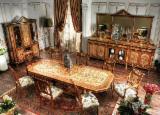 Négoce International De Meubles De Salle À Manger - Fordaq - Vend Ensemble Table Et Chaises Pour Salle À Manger Rustique/Campagne Feuillus Africains Acajou