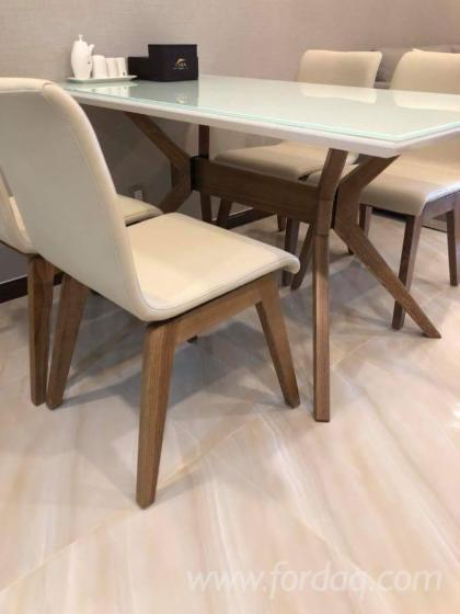 Holstered High End Oak Chairs