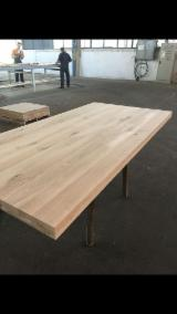 Wood Components For Sale - Oak Table with frame, with metal strips underneath.