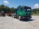 Oprema Za Šumu I Žetvu Kamion Za Prevoz Dužih Stabala - Kamion Za Prevoz Dužih Stabala MAN Polovna 1997 Rumunija