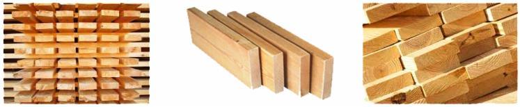 Schnittholz und gehobelte Produkte