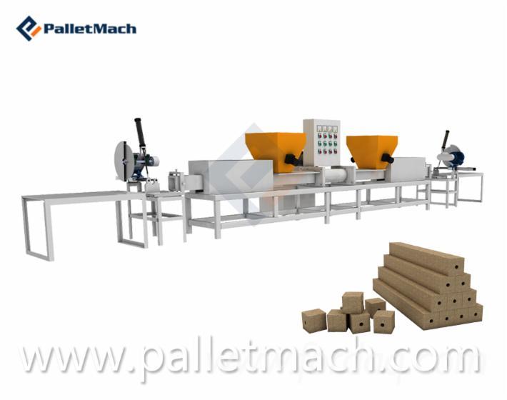 Wood Pallet Feet Sawdust Block Making Machine