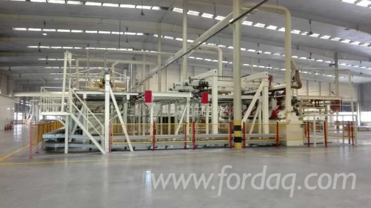 Used-Germany-MDF-continuous-press-line-used-Chinese-MDF-roll-press-line-working-used-Chinese-MDF