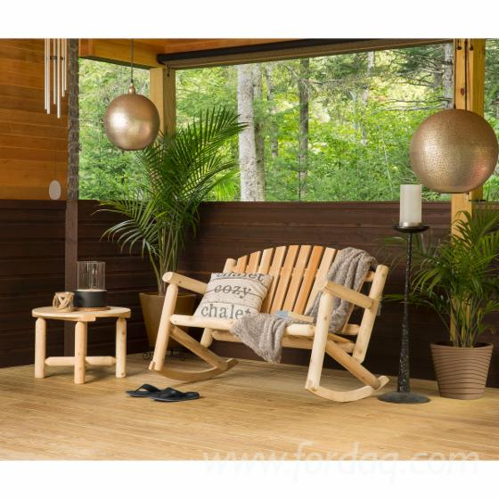 Mobilier extérieur intérieur jardin patio style rondins Chaises ...