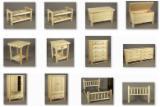 Meubles Et Produits De Jardin Amérique Du Nord - Mobilier de chambre à coucher style rondins de Cèdre Blanc du Nord Lits Commodes Tiroirs Tables Miroirs