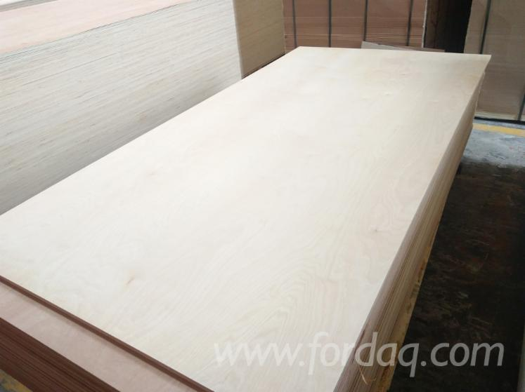15mm CARB P2 White Birch Plywood Poplar Core For Interior ...
