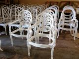 Interior Furniture - Dining Chairs Carver White Painted Furniture