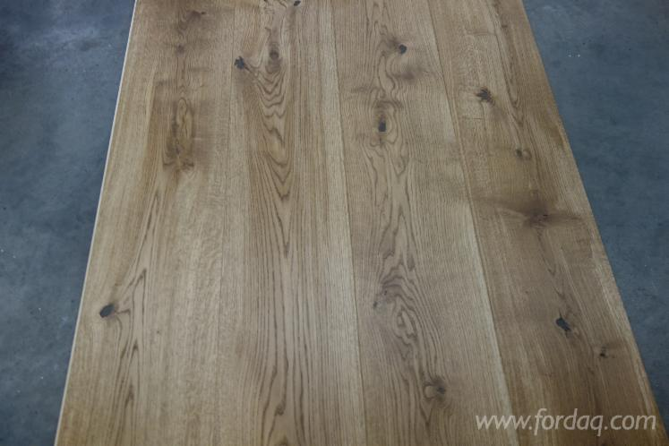 European Oak Engineered Wood Flooring - 13x260 - Black Oiled - Sanded - T & G