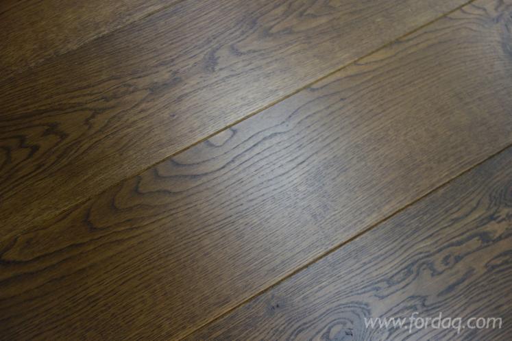 European Engineered Wood Flooring 13x220 Smoked Black Oiled