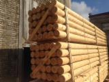 Construction Round Beams - Pine - Scots Pine 150-250 mm all grades Construction Round Beams from Russia