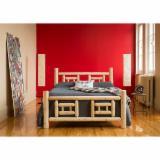 Trouvez tous les produits bois sur Fordaq - Mobilier Rustique - Mobilier de chambre à coucher en Cèdre Blanc du Nord - Collection complète incluant Lits Commodes Tables Miroirs