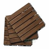 Garden Wood Tile Garden Products - 6-Slat Deck Tiles/ Interlocking Floor Tiles