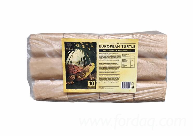 """THE EUROPEAN TURTLE"" BRIQUETTES BRICK-SHAPE"