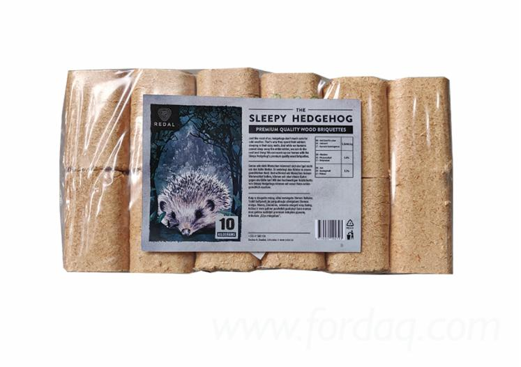 """THE SLEEPY HEDGEHOG"" BRIQUETTES BRICK-SHAPE"