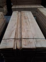 Wide square edged oak boards used for flooring