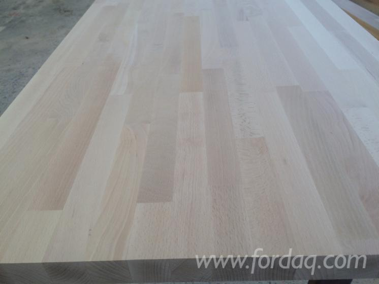 Beech, Oak 20-40 mm Finger Jointed (Discontinuous Stave) European hardwood from Romania, Prahova