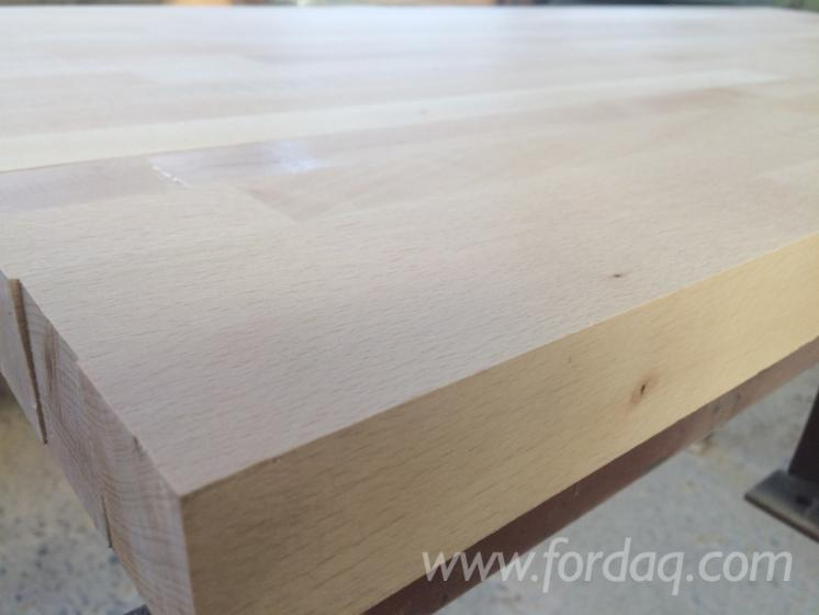 1 Schicht Massivholzplatten, Buche, Eiche