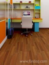 Laminate Wood Flooring - MDF Laminated Flooring, Genuine Wood Veneer Finish