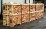 乌克兰 供應 - 劈切薪材 – 未劈切 碳材/开裂原木 榉木, 鹅耳枥, 橡木