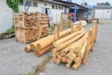 Acacia Hardwood Logs - robinia sapwood/free and sanded posts