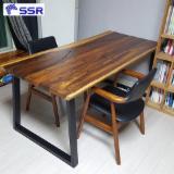 Vend Ensemble Table Et Chaises Pour Salle À Manger Design Feuillus Asiatiques Eucalyptus, Chêne Glauque, Noyer