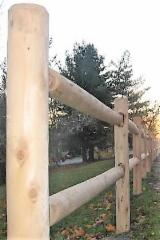North America Softwood Logs - Northern White Cedar 2.5-3.5 in Debarked or Machine rounded with Knotty grade Poles from Canada