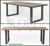Ukraine Living Room Furniture - Oak dining table BERGAMO