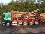 Maszyny Leśne - Ciężarówka Do Przewozu Krótkich Sortymentów Scania R480 8 X 4 Tridem Używane 2008 Niemcy