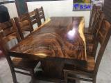 Vend Ensemble Table Et Chaises Pour Salle À Manger Design Feuillus Sud-Américains Saman