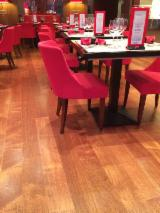 Engineered Merbau Flooring, One Strip Wide, Multiple Finishes