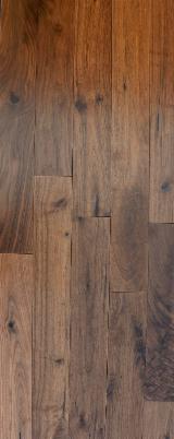 Solid Wood Flooring Poland - American Walnut Varnished , 4 x bevel, 19x127x600-1800 mm grade ABCD