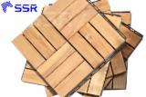 Acacia Garden Decking Tiles, 15-24 mm