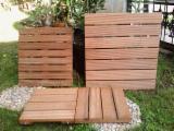 Garden Wood Tile Garden Products - Bangkirai panels deck tiles
