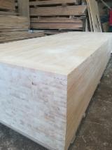 Furnir I Ploče - 1 Slojni Panel Od Punog Drveta, Bor - Crveno Drvo