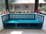 Romania Living Room Furniture - Traditional Tilia (Lime Tree) Painted Sofas Romania