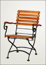 Furniture and Garden Products - Garden steel folding armchair FSC007 ACACIA FSC