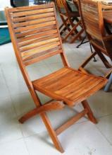 Natural Garden Furniture - Folding chair, acacia wood in oil finish