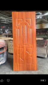 830X2080X3mm Melamine Teak HDF Moulded Door Skin.