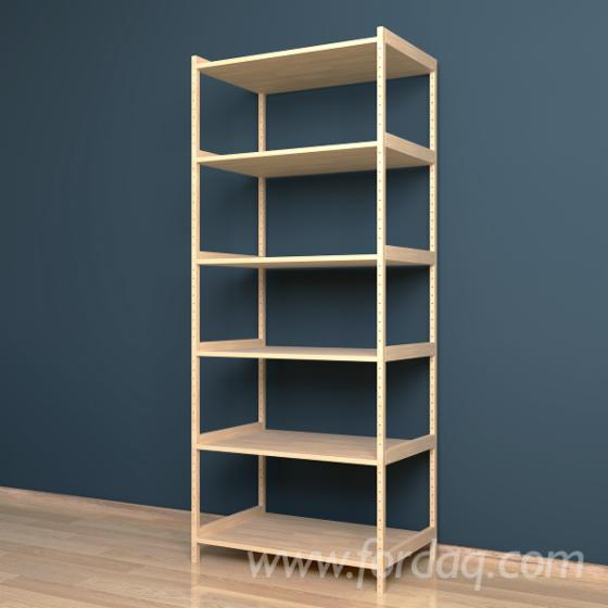 Model №1 - Shelving system 500x800x1920 mm, one section, 6 shelves.