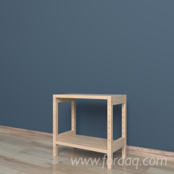 Model №2 - Shelving system 220x400x384 mm, one section, 2 shelves.