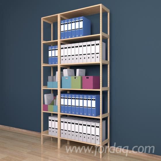 Model №.3 - Shelving system 300x1200x2304 mm, 2 sections, 12 shelves.