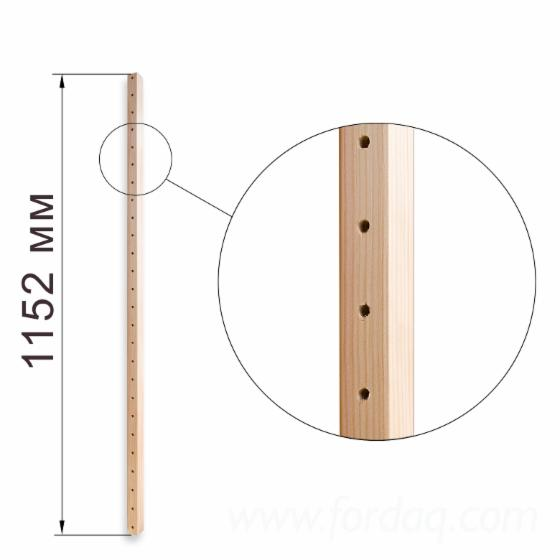 Model №.4 - Shelving system 500x1600x1152 mm, 2 sections, 8 shelves