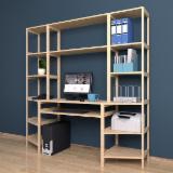 Office Furniture And Home Office Furniture - Model №.6 - Shelving system with a Computer desk 3 sections, 16 shelves.