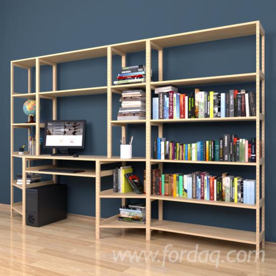 Model №.7 - Shelving system with a Computer desk 500x2400x2304 mm.