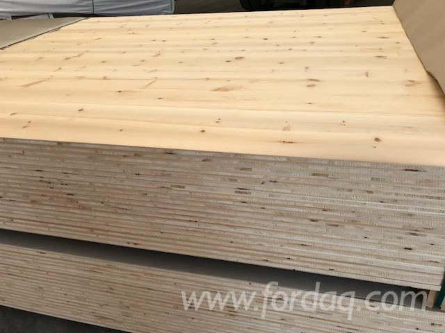 Wholesale Cembran Pine, Swiss Pine - 19 mm Continuous Stave European Softwood Austria