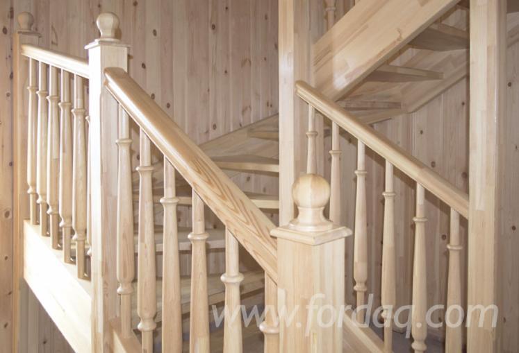 Massivholz, Kiefer - Föhre, Geländer, Balustrade