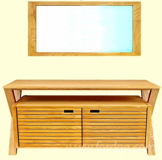 Under Basin Cabinet 78*49*78cm, Mirror 2.3*50*70 cm (Ash wood) - Bathroom Furniture