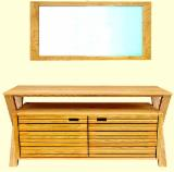 Bathroom Furniture - Bathroom Furniture - Under Basin Cabinet 78*49*78cm, Mirror 2.3*50*70 cm (Ash wood)
