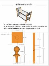 Wood Components, Mouldings, Doors & Windows, Houses Africa - Beech Chair, Seat Elements